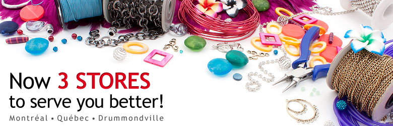 We are extremely happy to announce the oppening of 2 new Club Bead boutiques! Here are our 2 new locations: 670, rue Bouvier, Porte 100, Québec, G2J 1A7 et 697, boulevard Foucault, Drummondville, J2C 1A3
